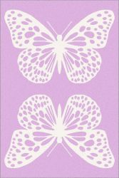 SOFT 160*230 BUTTERFLY PINK